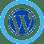 WordPress symbol in blue