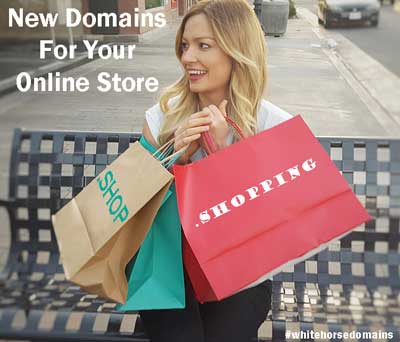 New domains for your online store on White Horse Domains