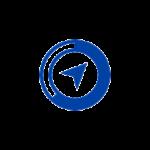 navigation arrow in blue